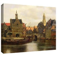 Johannes Vermeer 'View of Delft II' Gallery-wrapped Canvas