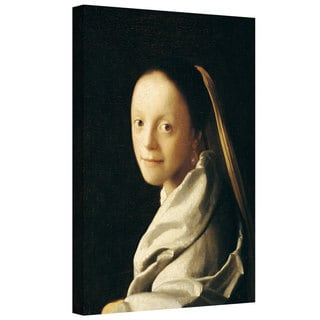 Johannes Vermeer 'Portrait of a Young Woman' Gallery-wrapped Canvas