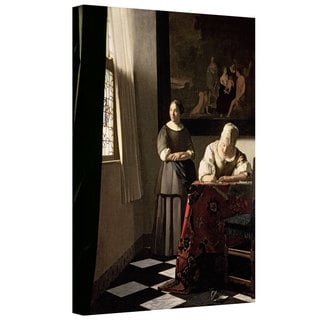 Johannes Vermeer 'Lady Writing a Letter With Her Maid' Gallery-wrapped Canvas