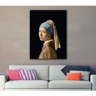 Johannes Vermeer 'Girl with a Pearl Earring' Gallery-wrapped Canvas