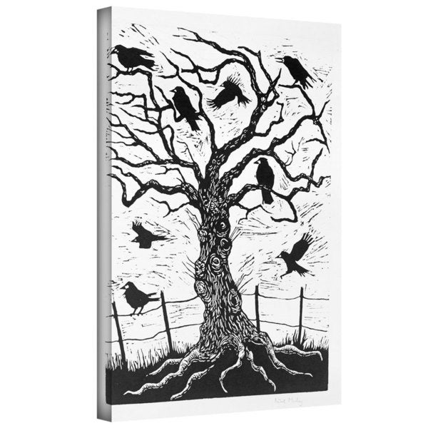 Nat Morley Rook Tree Gallery Wrapped Canvas Wall Art