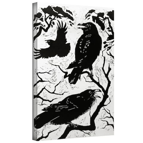 Nat Morley 'Ravens' Gallery-wrapped Canvas Art