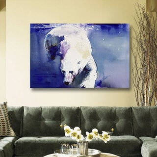 ArtWall Mark Adlington 'Underwater Bear' Gallery-Wrapped Canvas