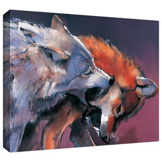 ArtWall Mark Adlington 'Two Wolves' Gallery-Wrapped Canvas