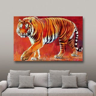 ArtWall Mark Adlington 'Bengal Tiger' Gallery-Wrapped Canvas