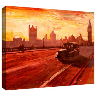 ArtWall Martina & Markus Bleichner 'London Bus Dusk' Gallery-Wrapped Canvas