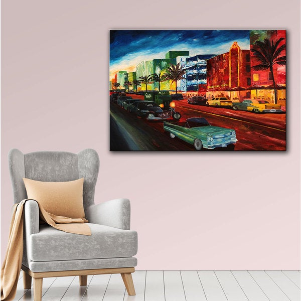 ArtWall Martina & Markus Bleichner 'Miami Ocean Drive' Gallery-Wrapped Canvas