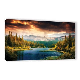 ArtWall John Black 'Mountain View' Gallery-Wrapped Canvas