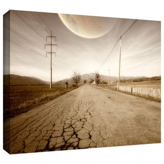 ArtWall Dragos Dumitrascu 'The Road-Planet Side' Gallery-Wrapped Canvas