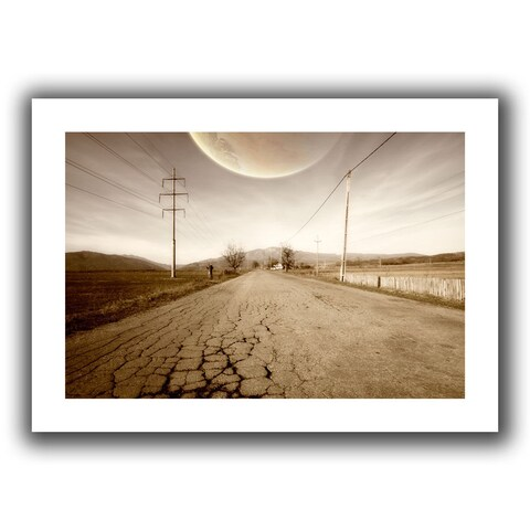 ArtWall Dragos Dumitrascu 'The Road-Planet Side' Unwrapped Canvas