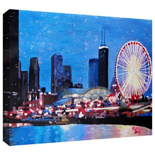 ArtWall Martina & Markus Bleichner's 'Chicago Wheel' Gallery-wrapped Canvas