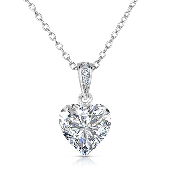 sterling silver v double jewellers and shaped diamond c gold in pendant heart necklace necklaces peoples accent