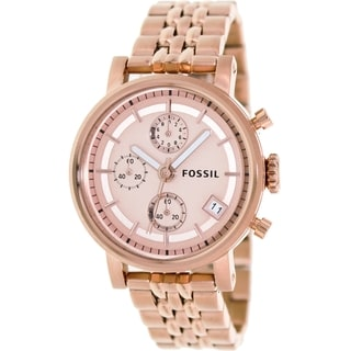Fossil Women's ES3380 Decker Rosetone Watch