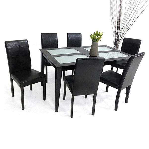 Warehouse of Tiffany 7 piece Tafline Glass Table Dining  : Warehouse of TIffanys 7 piece Tafline Glass Table Dining Set ffb3e1e3 ab35 4e92 a408 d822786f9861600 from www.overstock.com size 600 x 600 jpeg 49kB