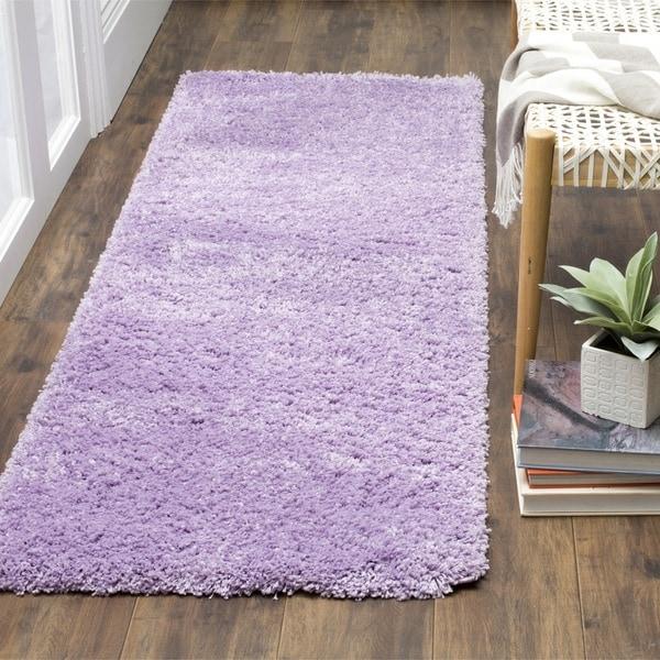 Safavieh California Cozy Plush Lilac Shag Rug (2'3 X 7