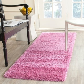 Safavieh California Cozy Solid Pink Shag Rug (2'3 x 7')