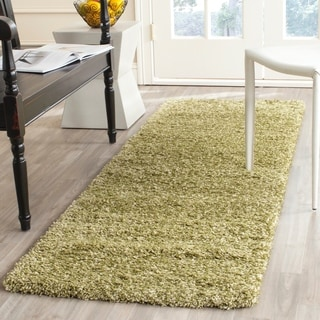 Safavieh California Cozy Plush Green Shag Rug (2'3 x 7')