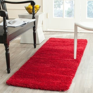 Safavieh Milan Shag Red Runner (2' x 6')
