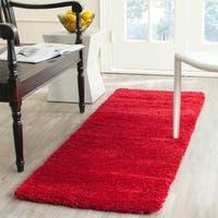 Safavieh Milan Shag Red Runner Rug (2' x 6')