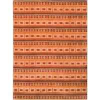 Safavieh Hand-knotted Nepalese Rust/ Multi Wool/ Silk Rug - 10' x 14'