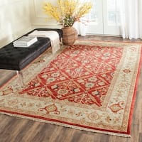 Safavieh Hand-knotted Samarkand Rust/ Ivory Wool Rug - 8' x 10'