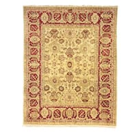 Safavieh Hand-knotted Peshawar Vegetable Dye Ivory/ Red Wool Rug - 9' x 12'