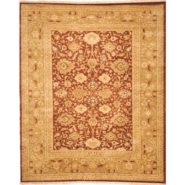 Safavieh Hand-knotted Peshawar Vegetable Dye Rust/ Lemon Wool Rug - 9' x 12'