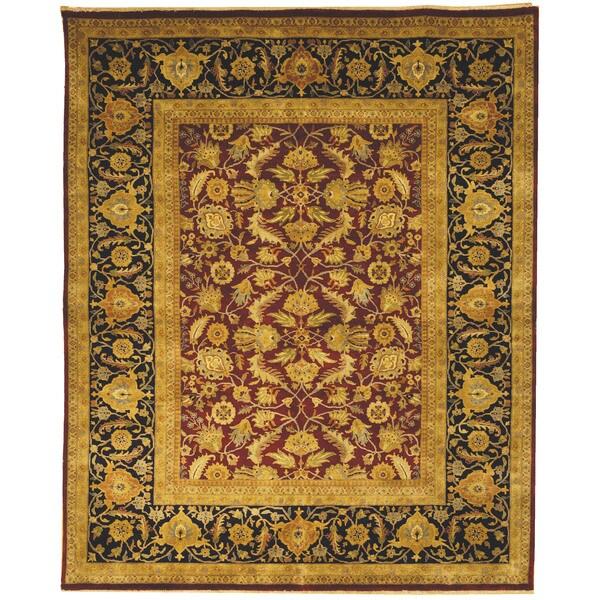 Safavieh Hand-knotted Farahan Sarouk Red/ Navy Wool Rug - 8' x 10'