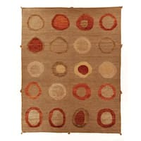 Safavieh Hand-knotted Santa Fe Modern Abstract Beige Wool Rug - 8' x 10'