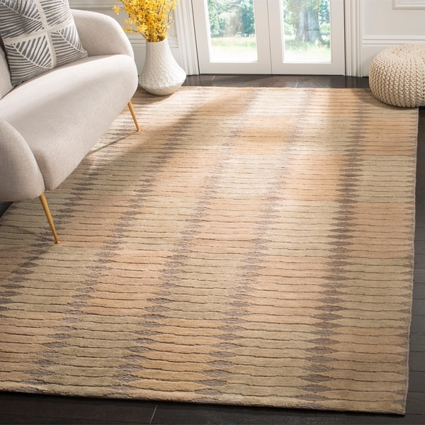 Safavieh Hand-knotted Santa Fe Modern Sage/ Ivory Wool Rug - 8' x 10'