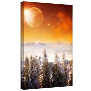 ArtWall Dragos Dumitrascu 'Golden Eclipse2' Gallery-Wrapped Canvas