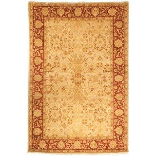 Safavieh Hand-knotted Peshawar Vegetable Dye Gold/ Red Wool Rug (6' x 9')