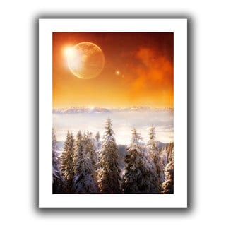 ArtWall Dragos Dumitrascu 'Golden Eclipse2' Unwrapped Canvas