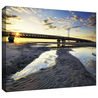 ArtWall Steven Ainsworth 'Hatteras Pools and Bridge' Gallery-Wrapped Canvas