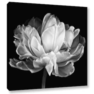 ArtWall Cora Niele 'Tulipa Double Black & White II' Gallery-Wrapped Canvas