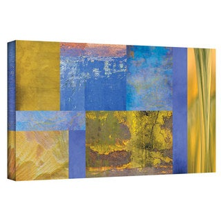 ArtWall Cora Niele 'Blue Yellow Collage' Gallery-Wrapped Canvas