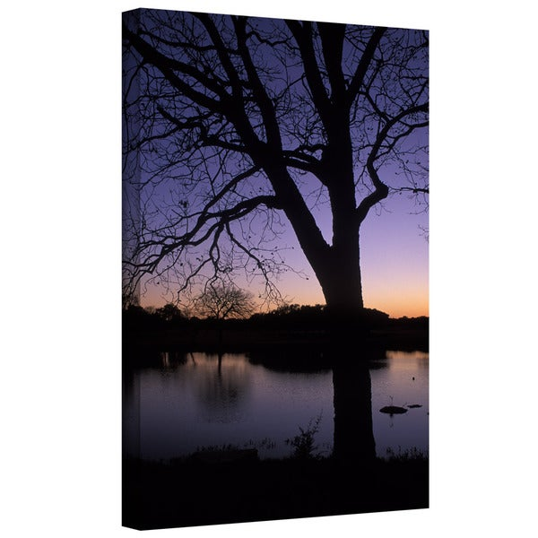 ArtWall Kathy Yates 'Texas Sunset on the Lake' Gallery-Wrapped Canvas