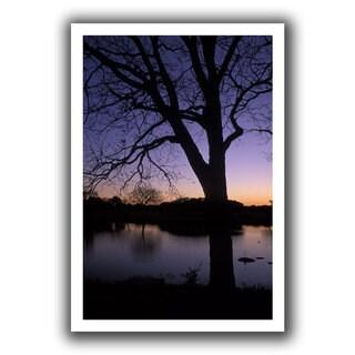 ArtWall Kathy Yates 'Texas Sunset on the Lake' Unwrapped Canvas