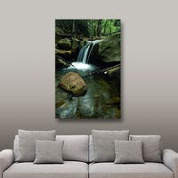 ArtWall Kathy Yates 'Waterfall in the Woods' Gallery-Wrapped Canvas