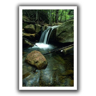 ArtWall Kathy Yates 'Waterfall in the Woods' Unwrapped Canvas - Multi