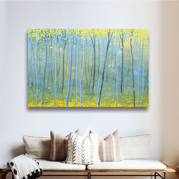 Art Wall Herb Dickinson 'Ginko Forest' Gallery-Wrapped Canvas