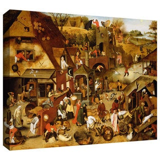 ArtWall Pieter Bruegel 'The Flemish Proverbs' Gallery-Wrapped Canvas