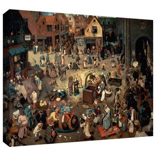 ArtWall Pieter Bruegel 'Fight between Carnival and Lent' Gallery-Wrapped Canvas