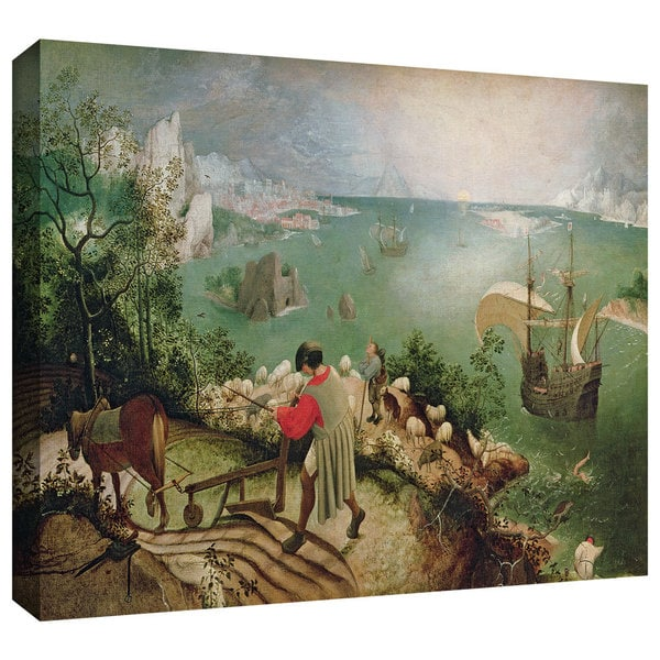 ArtWall Pieter Bruegel 'Landscape with the Fall of Icarus' Gallery-Wrapped Canvas