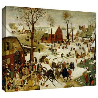 ArtWall Pieter Bruegel 'The Census at Bethlehem' Gallery-Wrapped Canvas