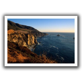 ArtWall Kathy Yates 'Golden Glow on Big Sur' Unwrapped Canvas
