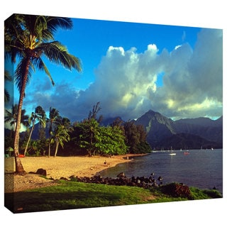 ArtWall Kathy Yates 'Golden Light on Hanalei' Gallery-Wrapped Canvas