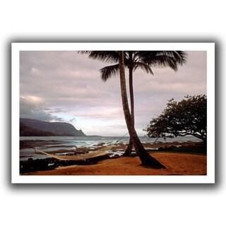 ArtWall Kathy Yates 'Hanalei Bay Hammock at Dawn' Unwrapped Canvas