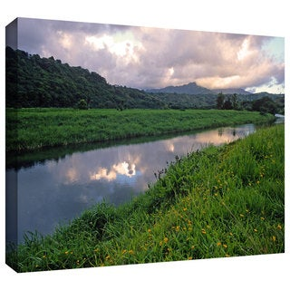 ArtWall Kathy Yates 'Hanalei River Reflections' Gallery-Wrapped Canvas