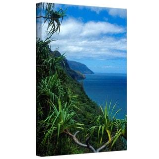 ArtWall Kathy Yates 'Kalulua Trail Kauai' Gallery-Wrapped Canvas